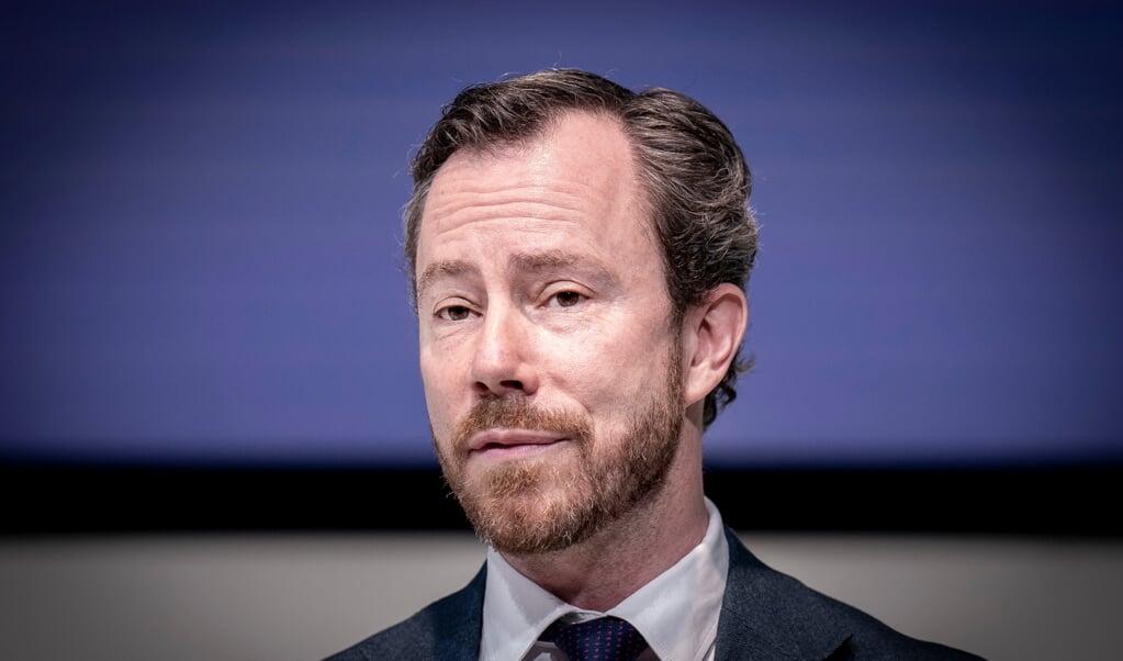 Venstres formand Jakob Ellemann-Jensen vil mandag eftermiddag præsentere en strategi for en yderligere genåbning for Danmarks statsminister Mette Frederiksen.  ( Liselotte Sabroe/Ritzau Scanpix)