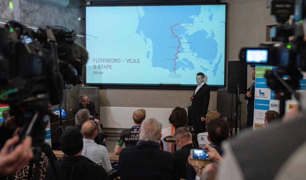 I 2019 præsenterede den daværende Jesper Worre Flensborg som startby for kongeetapen i PostNord Danmark Rundt. Men løbet lægger ikke vejen forbi fjordbyen i 2021.          ( Tim Riediger)