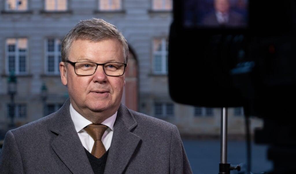 Jens Ringberg foran kameraet på Christiansborg.   (Danmarks Radio)