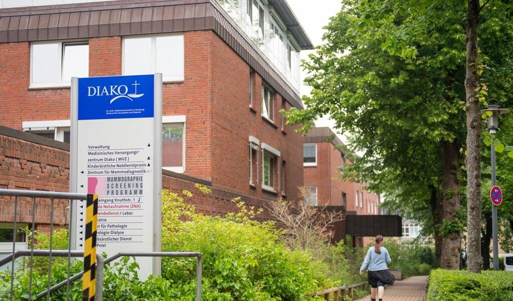 Diako er et af Flensborgs to sygehuse og stedet med langt den største fødeafdeling i regionen. Den er nu sat på nødblus, da mange læger er syge. De fleste gravide sendes til Husum og Slesvig. Arkivfoto: Kira Kutscher  (Kira Kutscher)