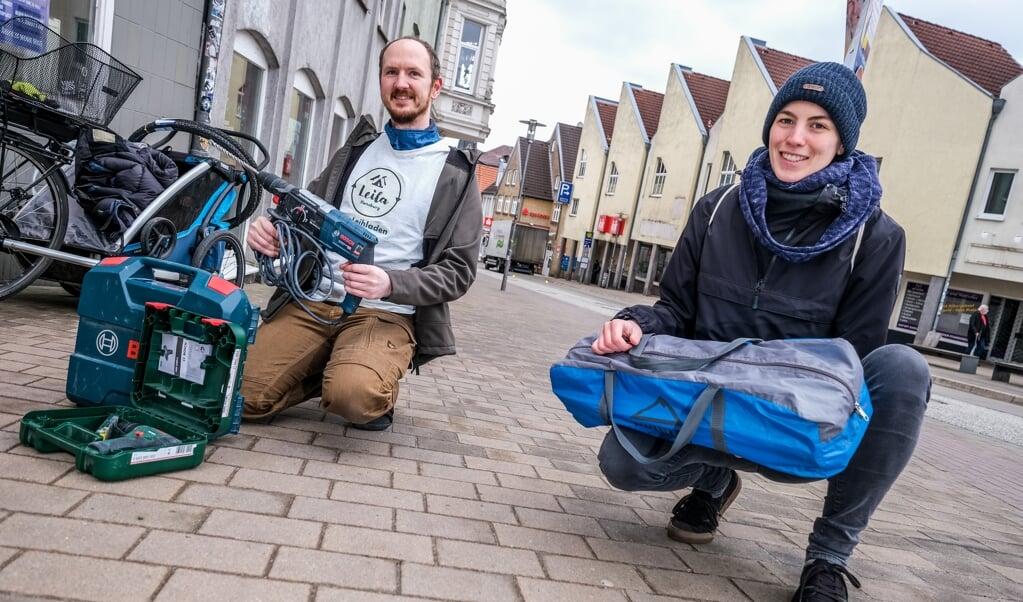 Ole Lebendig og Amanda Küting er to af de studerende, der vil føre projektet ud i livet.   ( Sebastian Iwersen)