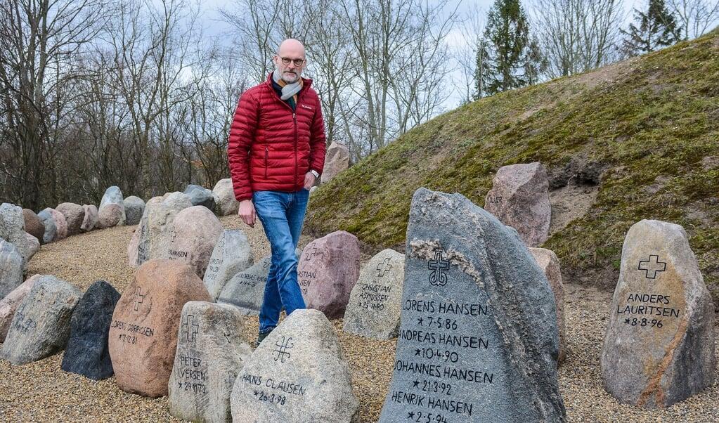 Den sønderjyske forfatter Karsten Skov romandebutterede i 2013.  ( Hans Christian Davidsen)