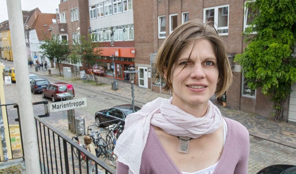 Eva Ritter er leder af Nordisk Info i Flensborg. Hun har ikke ønsket at kommentere kontorets fremtid efter Sydslesvigudvalgets beskæring af tilskud til informationskontoret.   (Arkivoto: Lars Salomonsen)