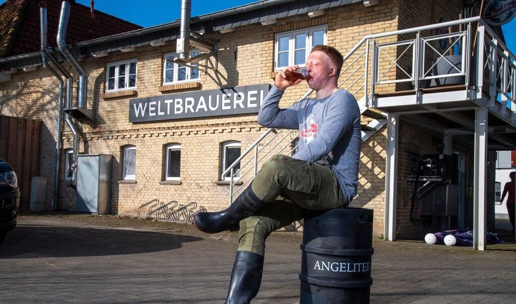 Hannes Frank var en af de yngste bryggeriejere, da han i 2017 overtog Weltbrauerei i Torsted.   (Tim Riediger)
