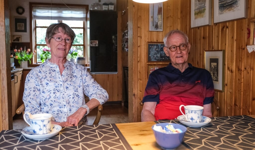 Ruth og Joachim Martin skulle bare lige være på Ejderskolen i et par år, og så skulle de tilbage til Danmark. Det var i 1968, og de trives stadig hjemme i Borgsted.  ( Sebastian Iwersen)