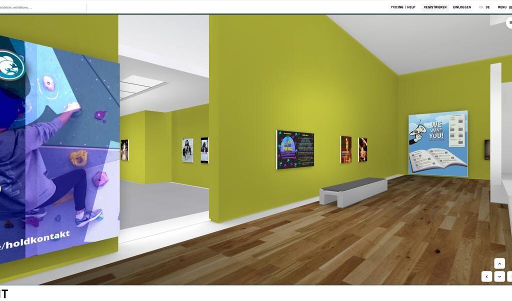 Velkommen til Duborg-Skolens interaktive 3D-mødested for snemænd, madlavning og lektiehjælp, der kan ses på linket https://artspaces.kunstmatrix.com/de/exhibition/4438713/duborg-do-it.  (Screenshot: Kasper Skovse)