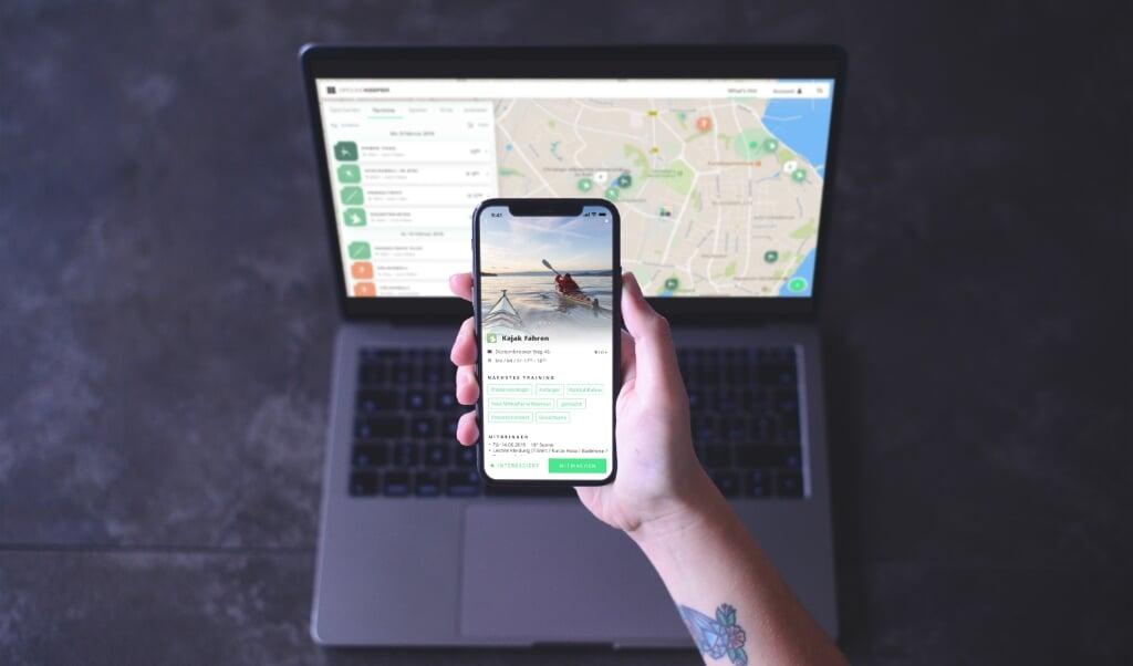 Ved hjælp af kortet skal det være hurtigt og overskueligt at finde idrætstilbud. Hjemmesiden er optimeret til mobile enheder, så den fungerer godt på mobiltelefoner og tablets, helt uden at downloade en app.  ( Flensborg Kommune)