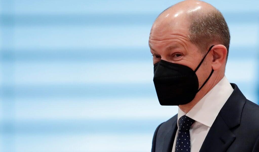 Bundesfinanzminister Olaf Scholz (SPD) auf dem Weg zur wöchentlichen Kabinettssitzung im Kanzleramt am vergangenen Mittwoch.    (Hannibal Hanschke, Reuters/Pool/dpa)