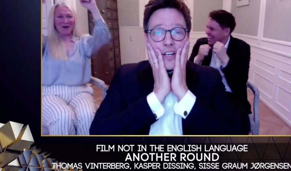 """Thomas Vinterberg giver en stor del af æren for filmens succes til skuespillerne i """"Druk"""".   (Bafta, Ritzau Scanpix)"""