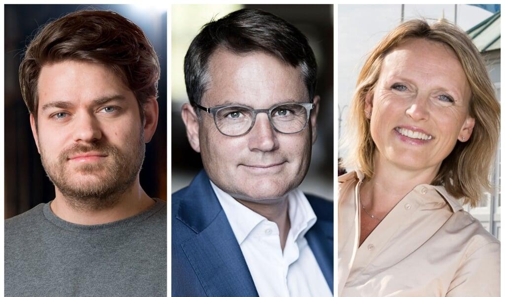 De nye medlemmer af Nationalmuseets Museumsråd er (fra venstre) Jonas Bjørn Jensen, Brian Mikkelsen og Anne Skovbro.   (Nationalmuseet)