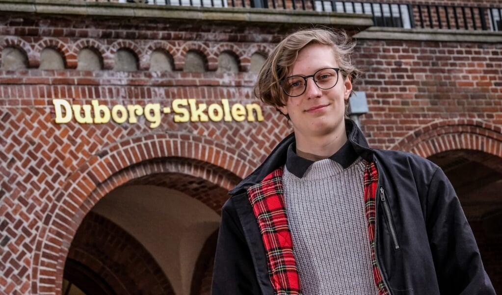 Joos Hansen og 13. årgang på Duborg-Skolen sluttede de sidste afgangsprøver den 30. april, og det markerer enden på et noget anderledes skoleår for de kommende studenter.  ( Sebastian Iwersen)
