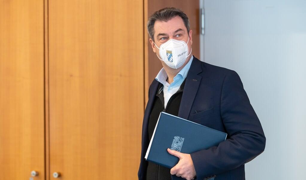Marus Söder har ikke længere ambitioner om at blive tysk forbundskansler, meddelte han tirsdag.    (Peter Kneffel/dpa-Pool/dpa)