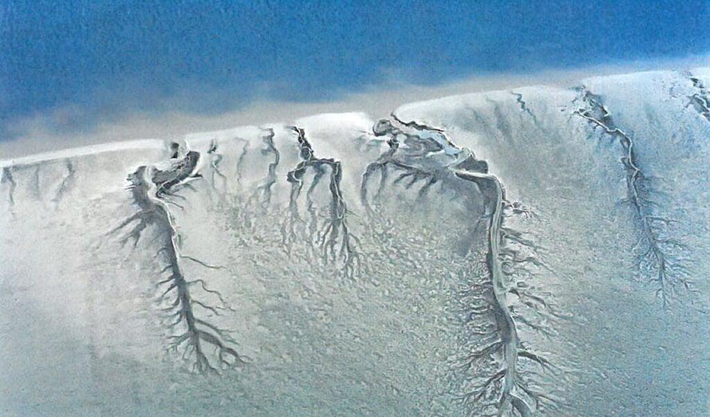 Vadehavet set fra luften.  (Foto fra bogen)