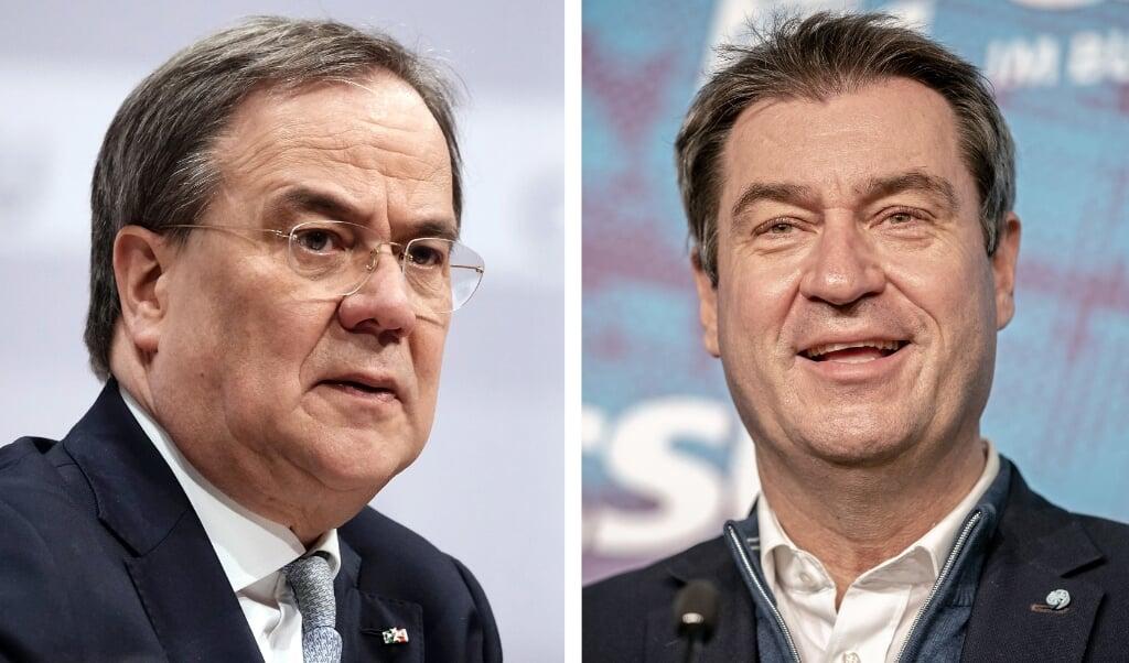 Både Söder og Laschet havde lovet at træffe en beslutning i løbet af denne uge, altså senest i dag.  ( Michael Kappeler/dpa-Pool/dpa)