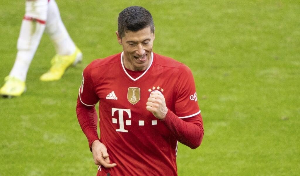 Robert Lewandowski har indtil videre scoret 35 mål i Bundesligaen i denne sæson. (Arkivfoto)  (Matthias Balk/Ritzau Scanpix)