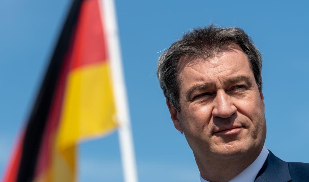 Markus Söder er parat til udfordringerne som rorgænger for hele Tyskland.    (Peter Kneffel/Pool/dpa)