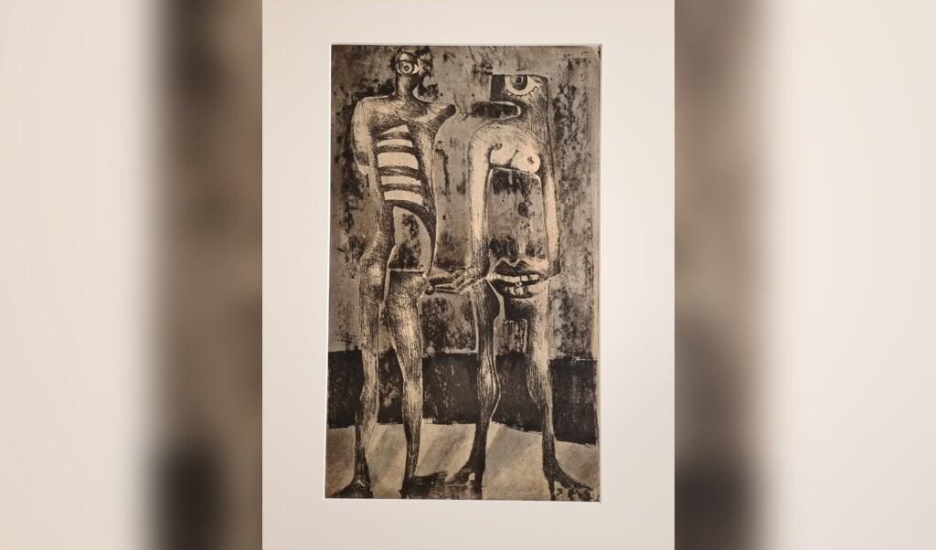 Eines der surrealistischen Werke von Dietmar Büttner, dem das Schloss vor Husum derzeit eine Sonderausstellung widmet.  ( privat)