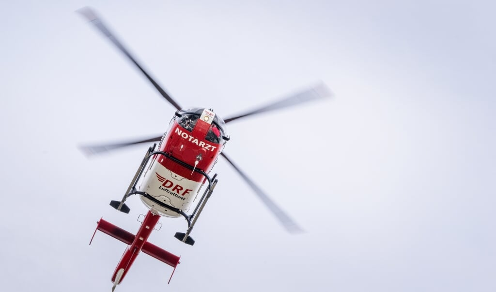 På grund af situationens alvor blev en redningshelikopter tilkaldt.  (Modelfoto: Arkiv/André Wirsig)