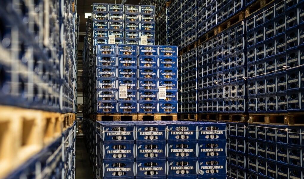 Flensburger Brauerei havde fredag annonceret, at bygge et nyt logistikcenter i Slesvig-Skoby istedet for Flensborg.   ( Martin Ziemer)