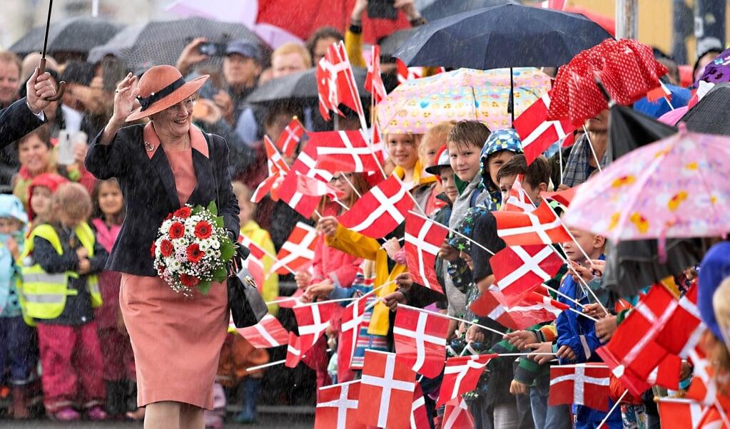 Dronningen kommer til Sønderjylland for at fejre Genforeningen.   (Arkiv)