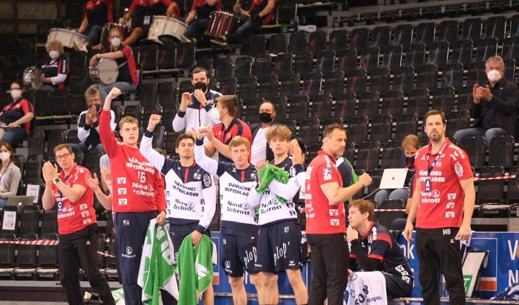 Die SG zeigte sich bestens erholt vom Europacup-Aus und fegte Melsungen aus der Halle.  ( Sebastian Iwersen)