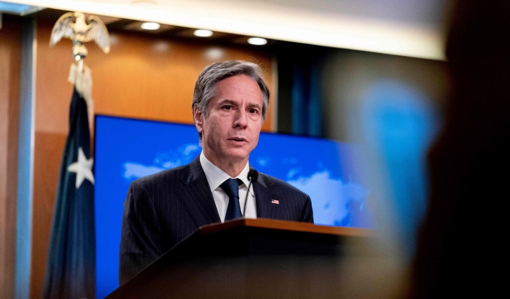 USA's udenrigsminister, Antony Blinken, besøger Danmark mandag.  (Andrew Harnik/Ritzau Scanpix)