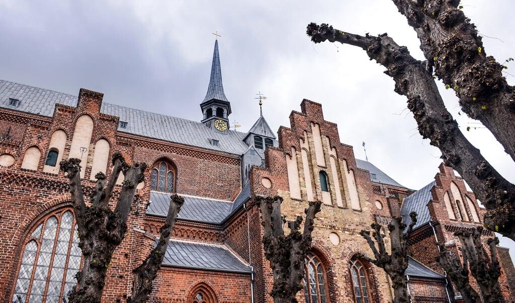 Haderslev Domkirke er et eksempel på de strøminger, der er kommet til Haderslev fra Tyskland. Domkirken er præget af nordtysk teglstensgotik.   ( Hans Christian Davidsen)