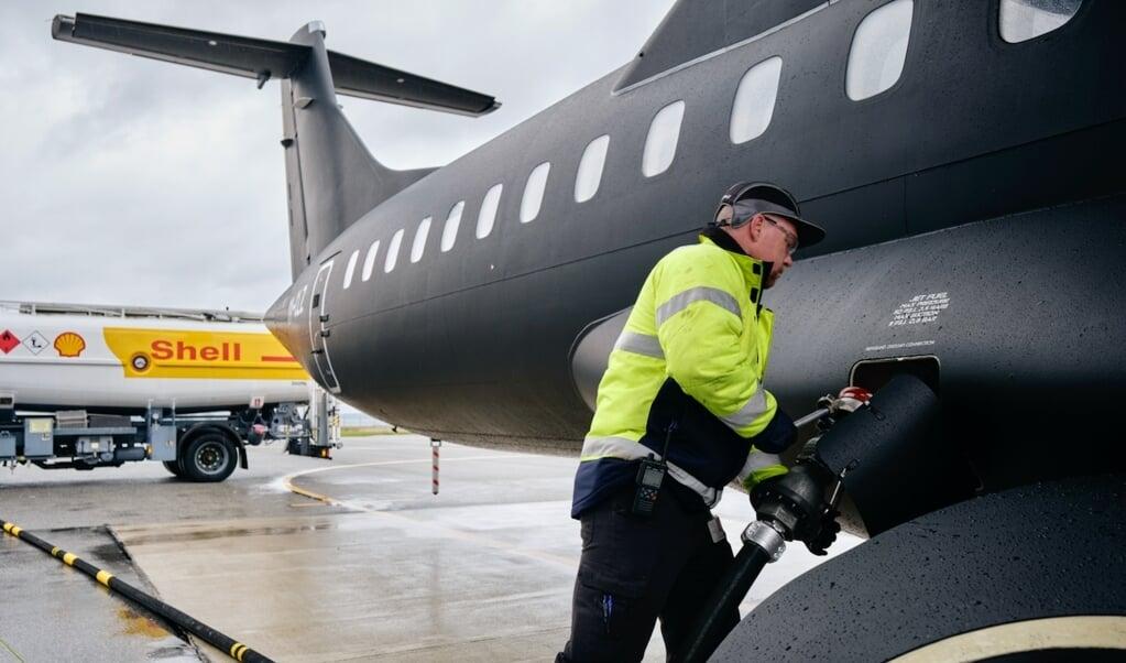 Alsie Express flyver som første danske indenrigsrute på nyt, mere bæredygtigt flybrændstof.    (Pressefoto Christoffer Regild, JydskeVestkysten)