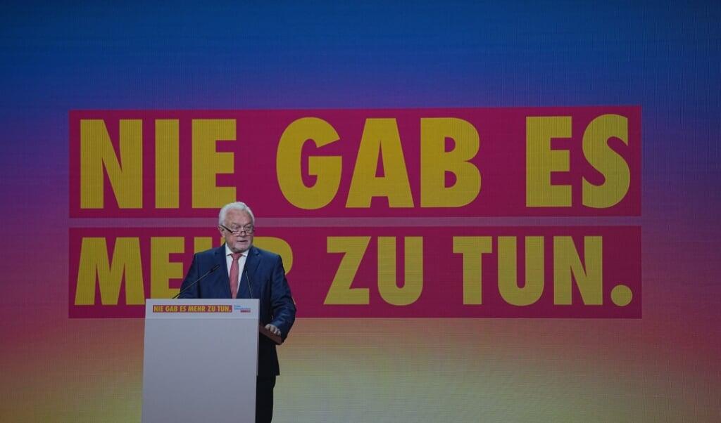 Som stedfortrædende formand åbnede Wolfgang Kubicki fredag FDPs kongres.   (Michael Kappeler/dpa)