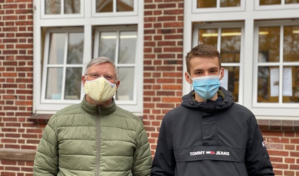 Henry Bohm og Marvin Petersen (t.h.) på Læk Danske Skole. Henry er praktikvejler for Marvin.  (  Nanna Sarauw)
