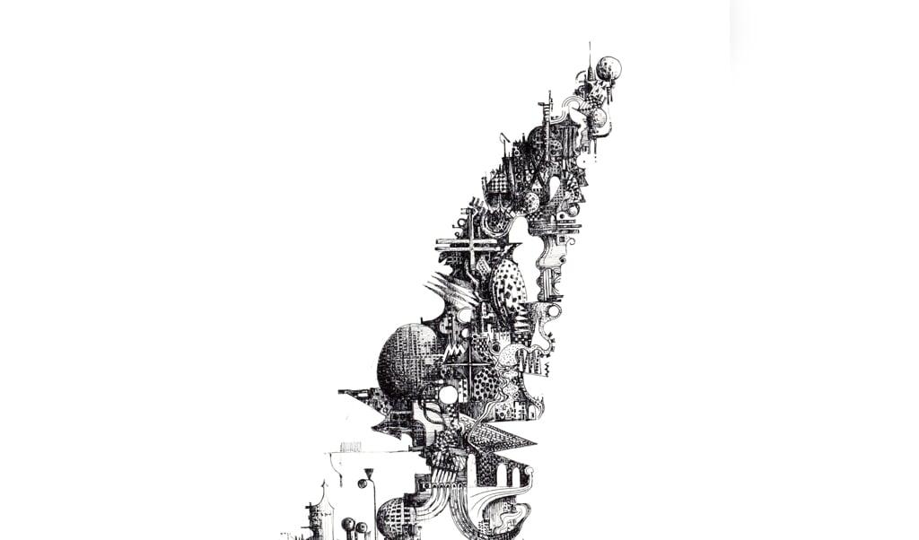»Still building on The Tower of Babel« - tegning af Eskild Beck.   (Anne Lildholdt Jensen)