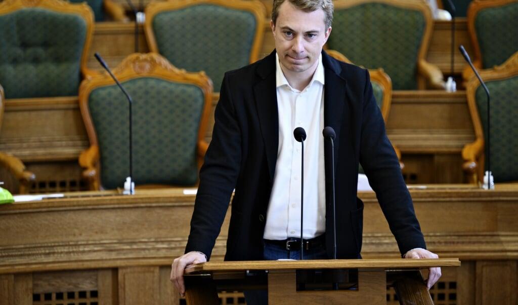 Dansk Folkepartis Morten Messerschmidt (DF) er nu officielt tiltalt for svindel og dokumentfalsk.  (Philip Davali/Ritzau Scanpix)