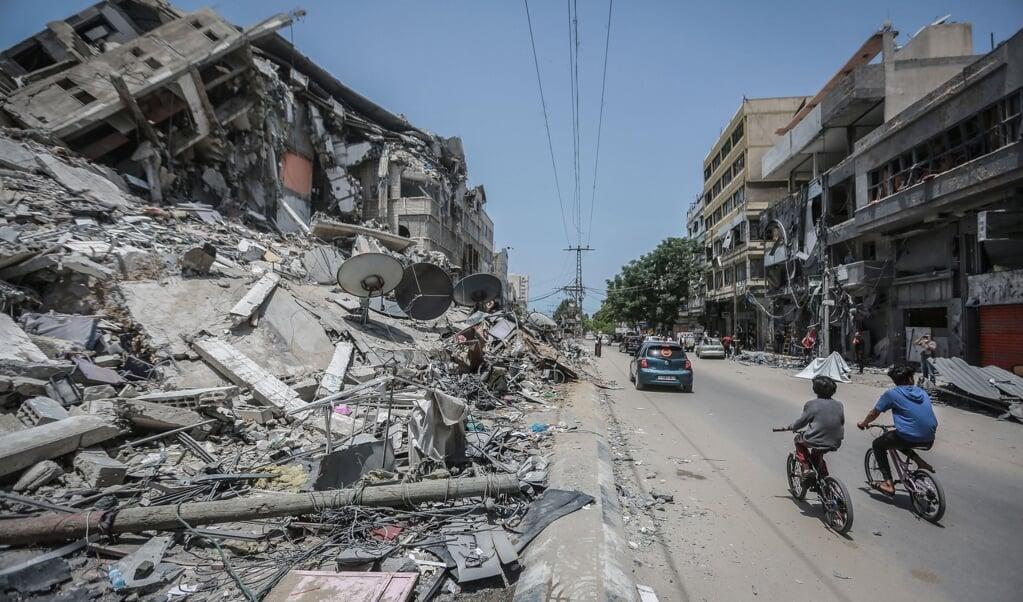 Efter 11 dages væbnet konflikt har Israel og palæstinenserne nu indgået en våbenhvile.  ( Mohammed Talatene/dpa)