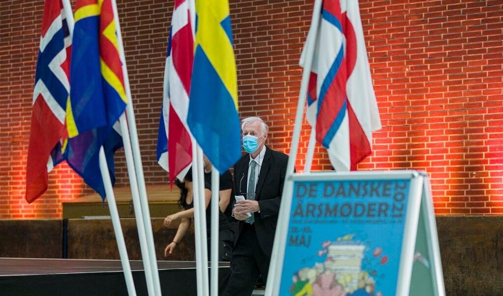 Folketingets formand, Henrik Dam Kristensen, holdt lørdag aften tale i Idrætshallen, hvor årsmødernes festaften blev afholdt for en noget mindre skare end sædvanligt.     (Lars Salomonsen)
