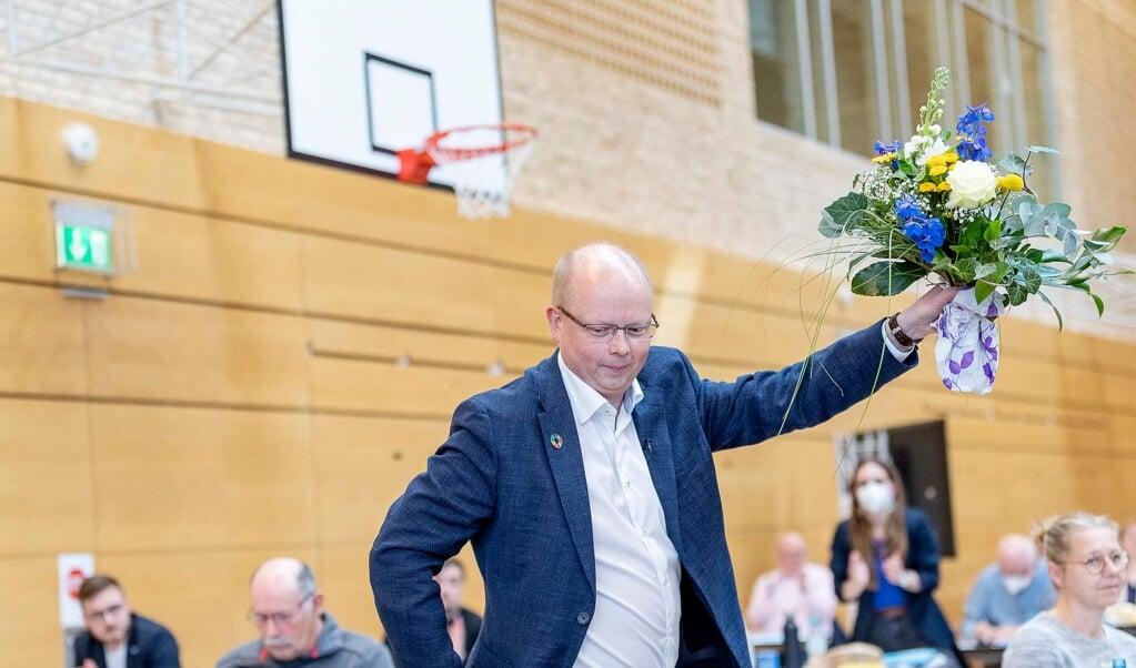 Stefan Seidler i minuttet efter, at sejren var hjemme.  Lars Salomonsen  (Lars Salomonsen.)