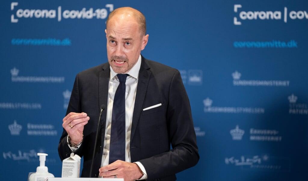 Danmarks sundhedsminister Magnus Heunicke tør ikke give et bud på, hvor mange borgere der vil benytte ordningen om de frivillige vacciner.  ( Emil Helms/Ritzau Scanpix)