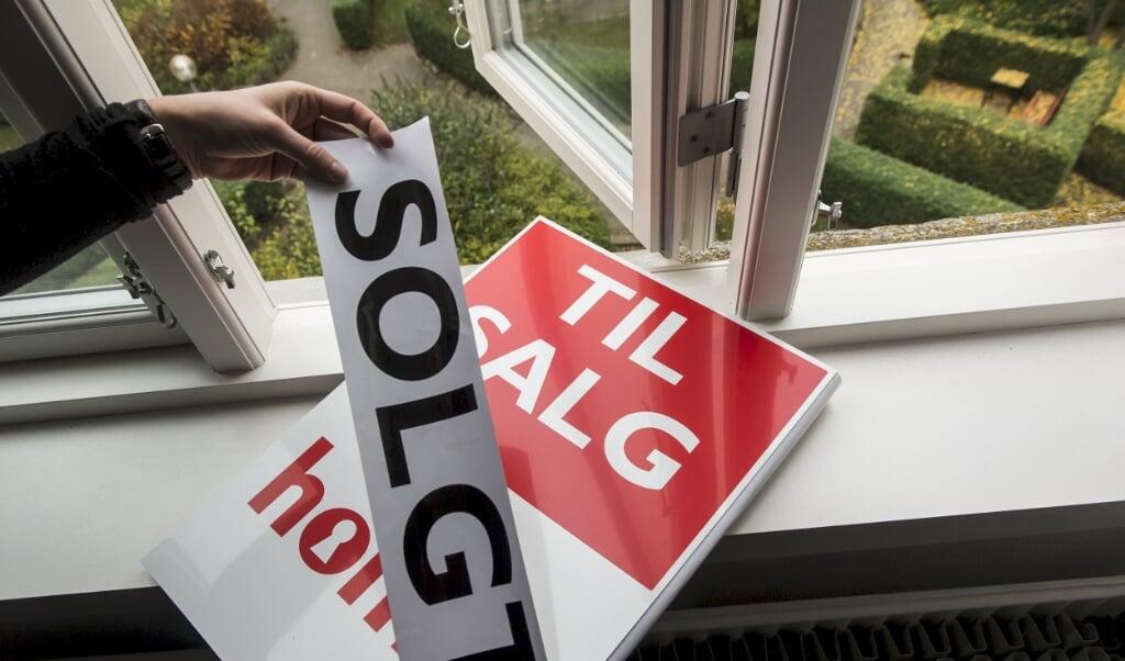 Antallet af huse til salg fortsætter med at være stabilt.   (Arkivfoto)