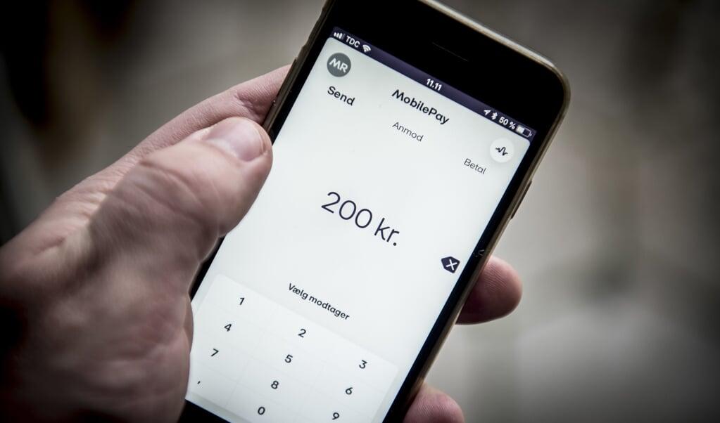 Betalingsløsningen MobilePay fusioneres nu sammen med andre nordiske spillere på markedet. (Arkivfoto)  (Mads Claus Rasmussen/Ritzau Scanpix)