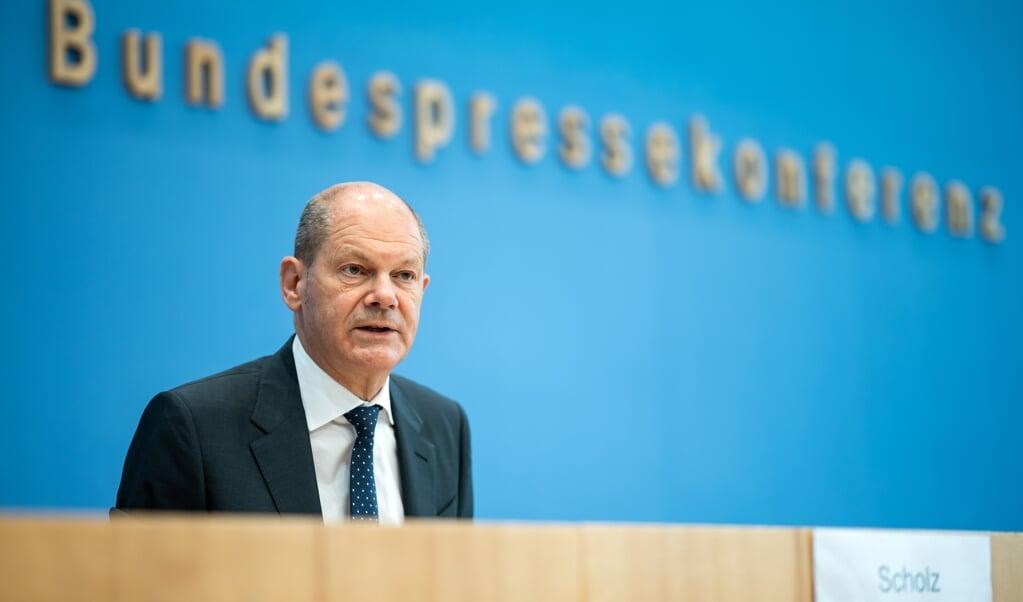 Finansminister Olaf Scholz er optimistisk omkring den tyske økonomi, der er begyndt at komme sig efter coronakrisen.   (Bernd von Jutrczenka/dpa)