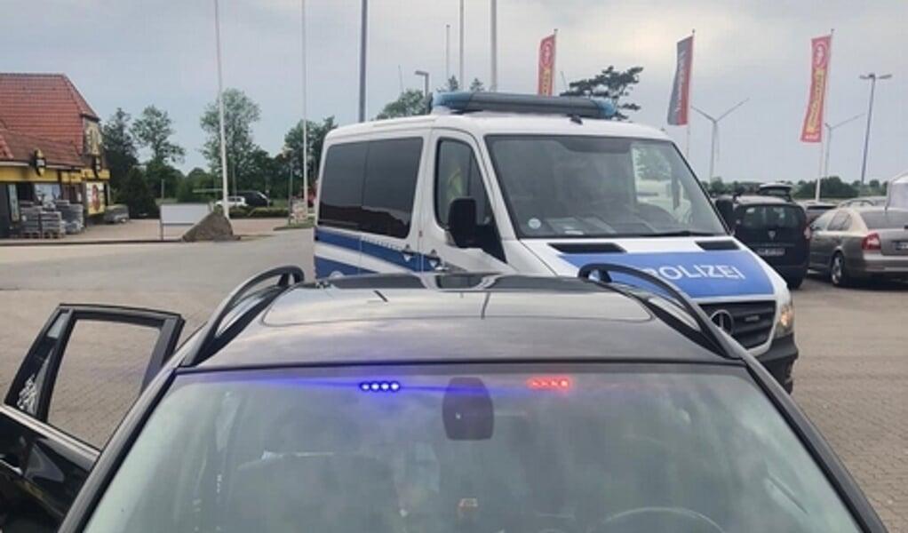 Forbundspolitiet konfiskerede lysene.   (Bundespolizei)