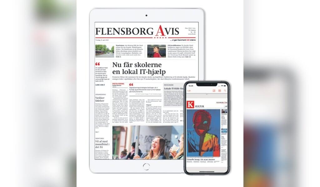 Flensborg Avis har under coronakrisen opnormeret indsatsen på online-nyhederne.  ( FlA)