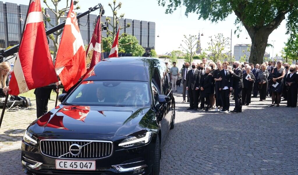 Familie, venner og toppen af Dansk politik deltov ved afskeden med Poul Schlüter.   (Keld Navntoft)