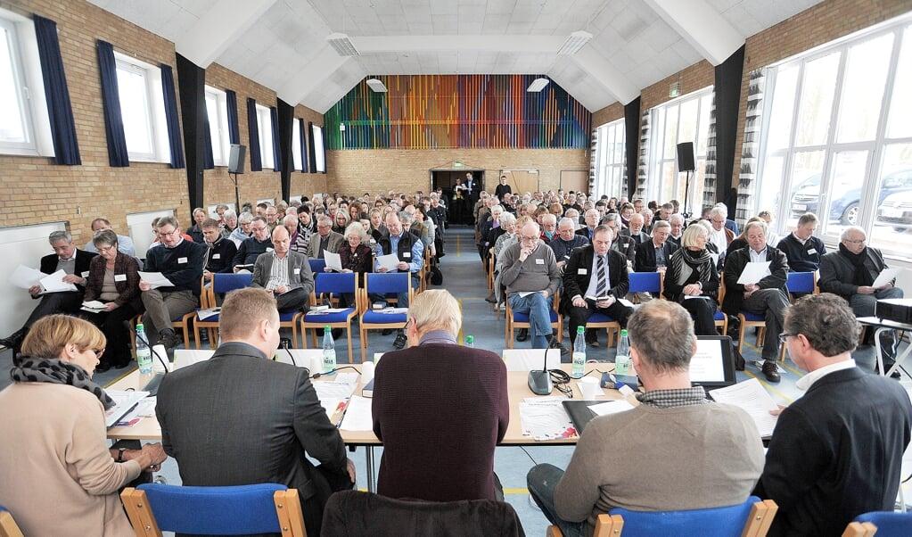 Der er med jævne mellemrum blevet afholdt Sydslesvigkonferencer i mange år. Her er et billede af forsamlingen i januar 2015.  ( Martina Metzger)