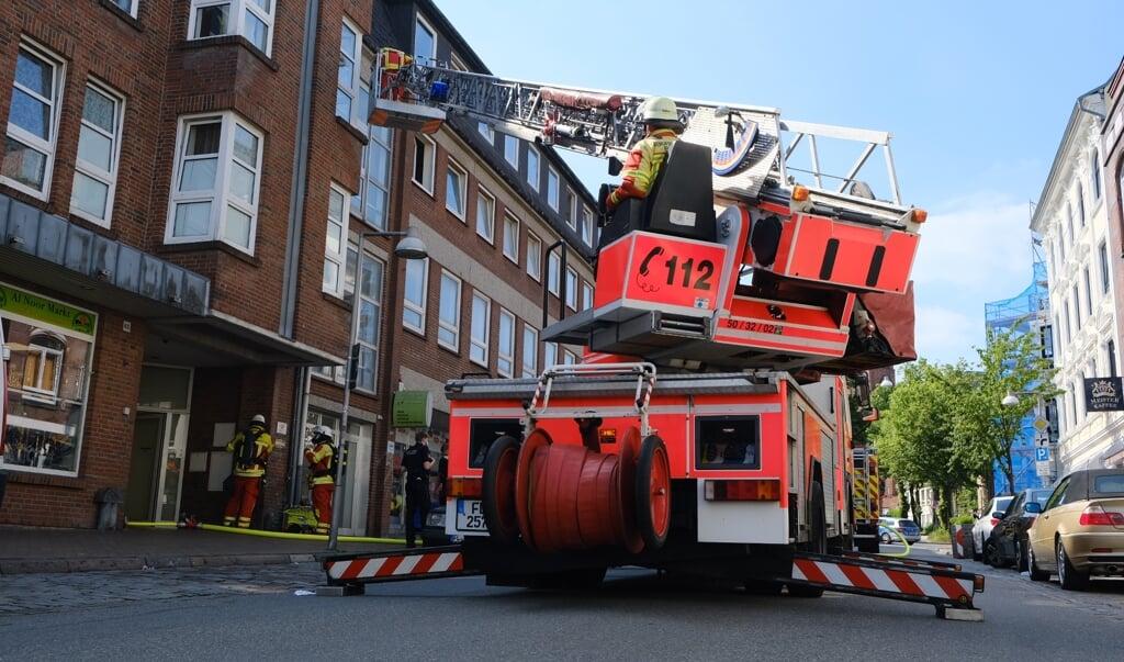 Branden brød ud i en lejlighed på anden sal i Nystaden.   (Heiko Thomsen                                                                                                                                                                                 )