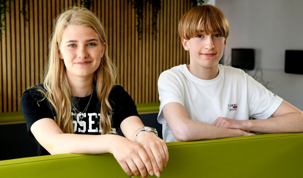 Mathilde Andersen og Peter Callesen får begge deres sprogdiplom i tysk i juni.    (André Thorup, Jydske Vestkysten)
