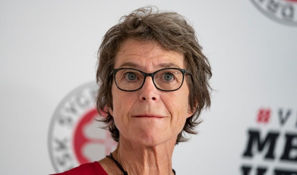 Dansk Sygeplejeråds formand, Grete Christensen, er overrasket over, at strejkende sygeplejersker ikke har fået mere opmærksomhed.  ( Emil Helms/Ritzau Scanpix)