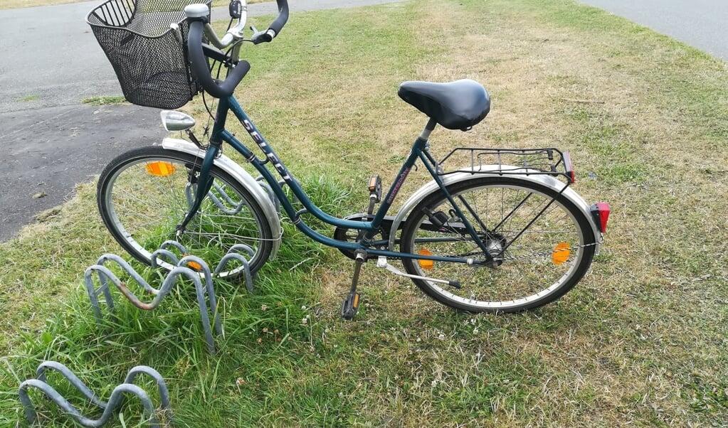 Nær stranden fandt politiet denne damecykel.   (Polizeidirektion Flensburg.)