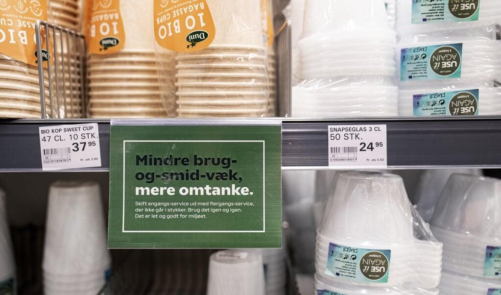 Fra lørdag er det ikke længere tilladt at sælge plastikservice i Danmark og resten af EU. (Arkivfoto)  (Ida Guldbæk Arentsen/Ritzau Scanpix)
