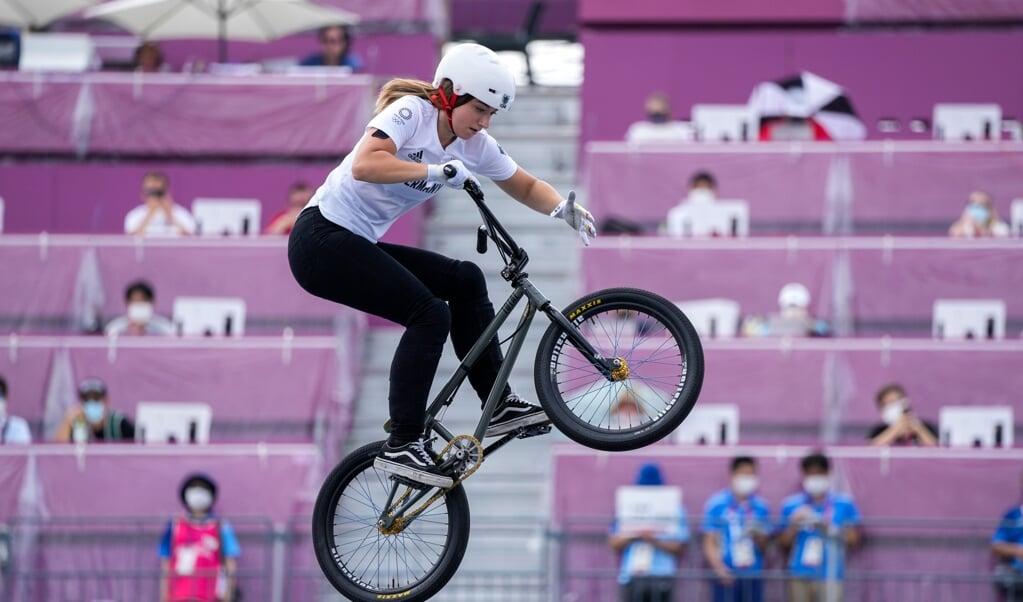 Die gebürtige Flensburgerin Lara Lessmann belegte in Tokio Rang sechs.  ( Ben Curtis/AP/dpa)