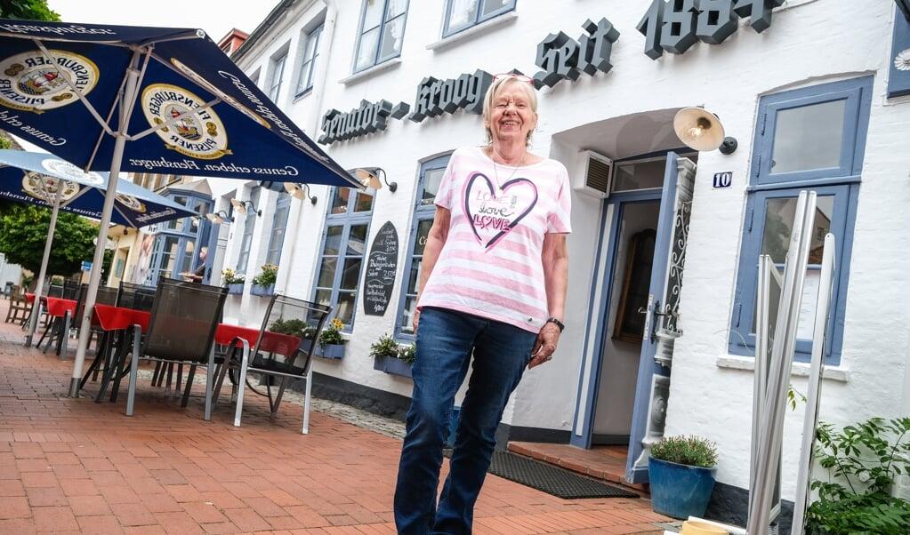 Indehaver af restauranten Senator-Kroog, Ilona Hahn, håber på, at den gode udvikling fortsætter, så en ny nedlukning undgås.    (Sven Geißler)